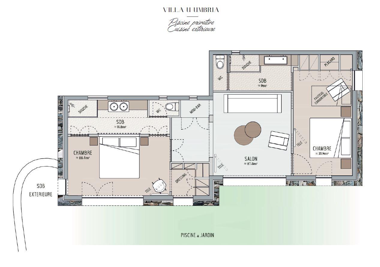Plan Villa Umbria